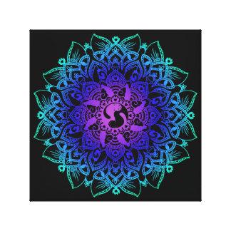 Zen Henna Mandala Hippy Cat Canvas Print