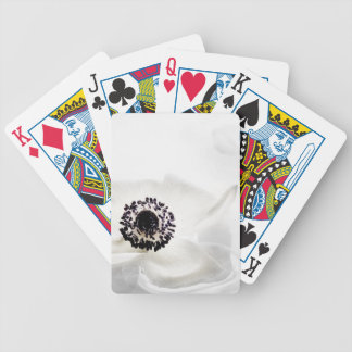 Zen High Key White Anemone on Water Background Cus Bicycle Playing Cards