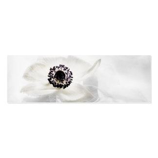 Zen High Key White Anemone on Water Background Double-Sided Mini Business Cards (Pack Of 20)