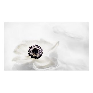 Zen High Key White Anemone on Water Background Double-Sided Standard Business Cards (Pack Of 100)