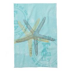 Zen Inspired Beach Theme Starfish Kitchen Towel