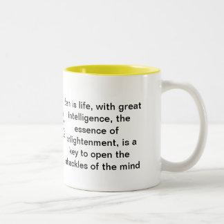 Zen is life Two-Tone coffee mug