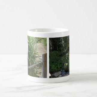 Zen Japanese Garden Water Fountain Crane Bird Mug
