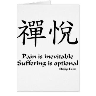Zen joy - Suffering is Optional Card