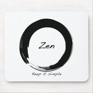 Zen: Keep it simple Mouse Pad