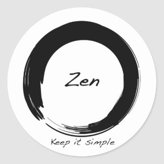 Zen: Keep it simple Classic Round Sticker