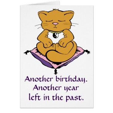 TigerLilyStudios Zen Kitty Cat Meditation Yoga Birthday Card