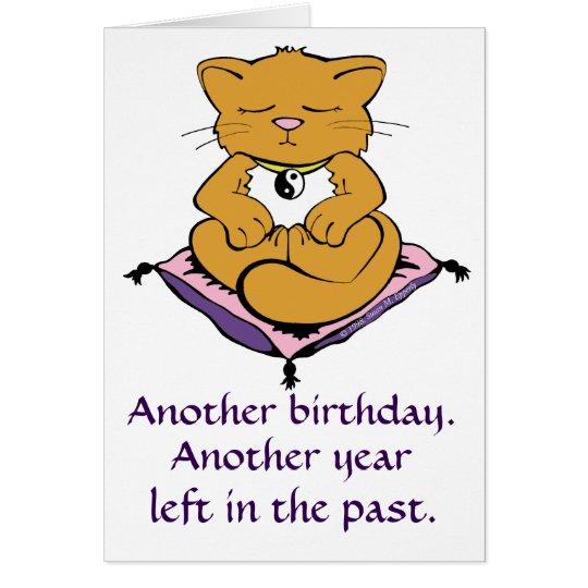 zen kitty cat meditation yoga birthday card  zazzle