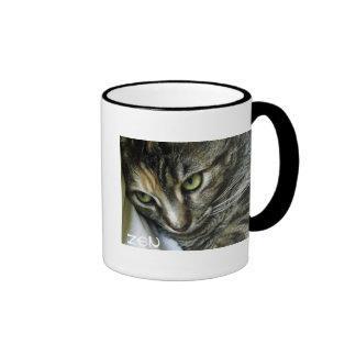 Zen Kitty Ringer Coffee Mug
