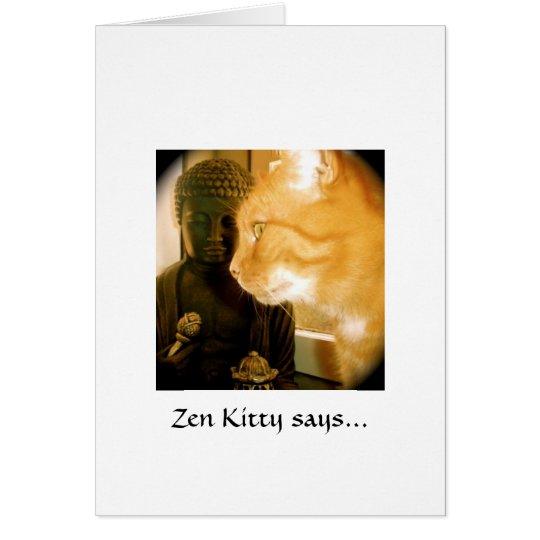 Zen Kitty says... Card
