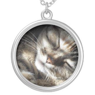 Zen Kitty Silver Plated Necklace