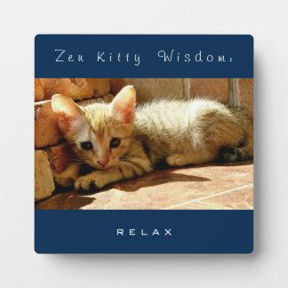 Zen Kitty Wisdom : Relax Plaque