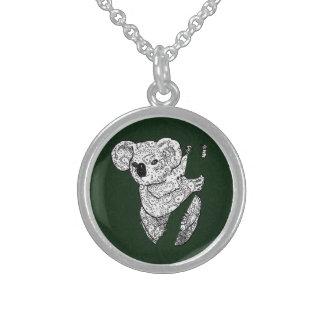 Zen Koala Necklace Green