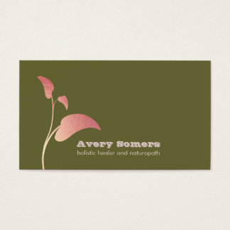 Zen Leaf Holistic Healer Green Business Card