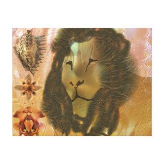 Zen lion canvas print