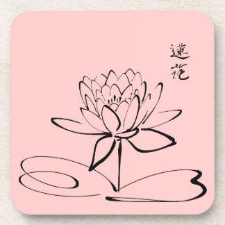 Zen Lotus Flower Beverage Coaster