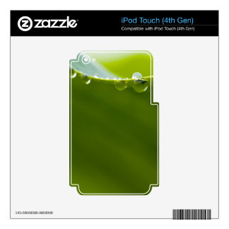 Zen Love Green Lotus Leaf  Water Drop Decals For iPod Touch 4G