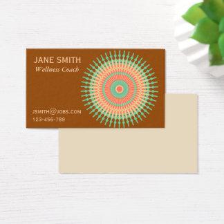 Zen Mandala wellness coach Business Card