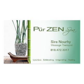 Zen Massage Therapist Spa template Business Cards