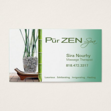 Zen Massage Therapist Business Card Template