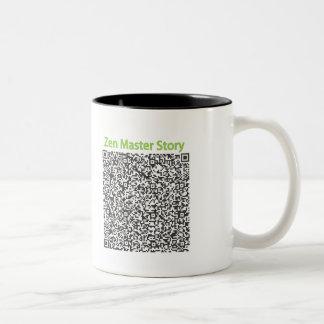 Zen Master Story in QR Code Two-Tone Coffee Mug