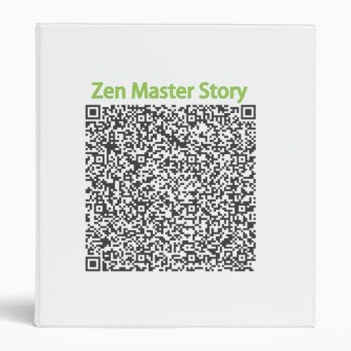 Zen Master Story in QR Code Vinyl Binder