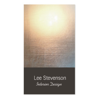 Zen Minimalist Simple New Age Interior Designer Double-Sided Standard Business Cards (Pack Of 100)