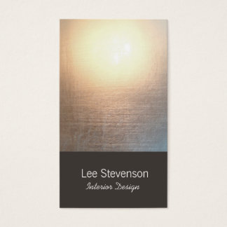 Zen Minimalist Simple New Age Interior Designer Business Card
