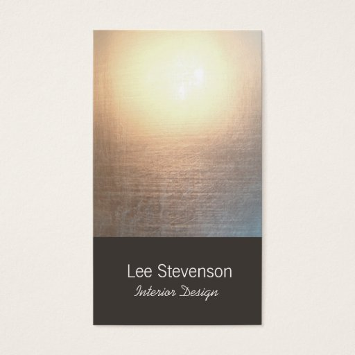 Zen Minimalist Simple New Age Interior Designer Business Card