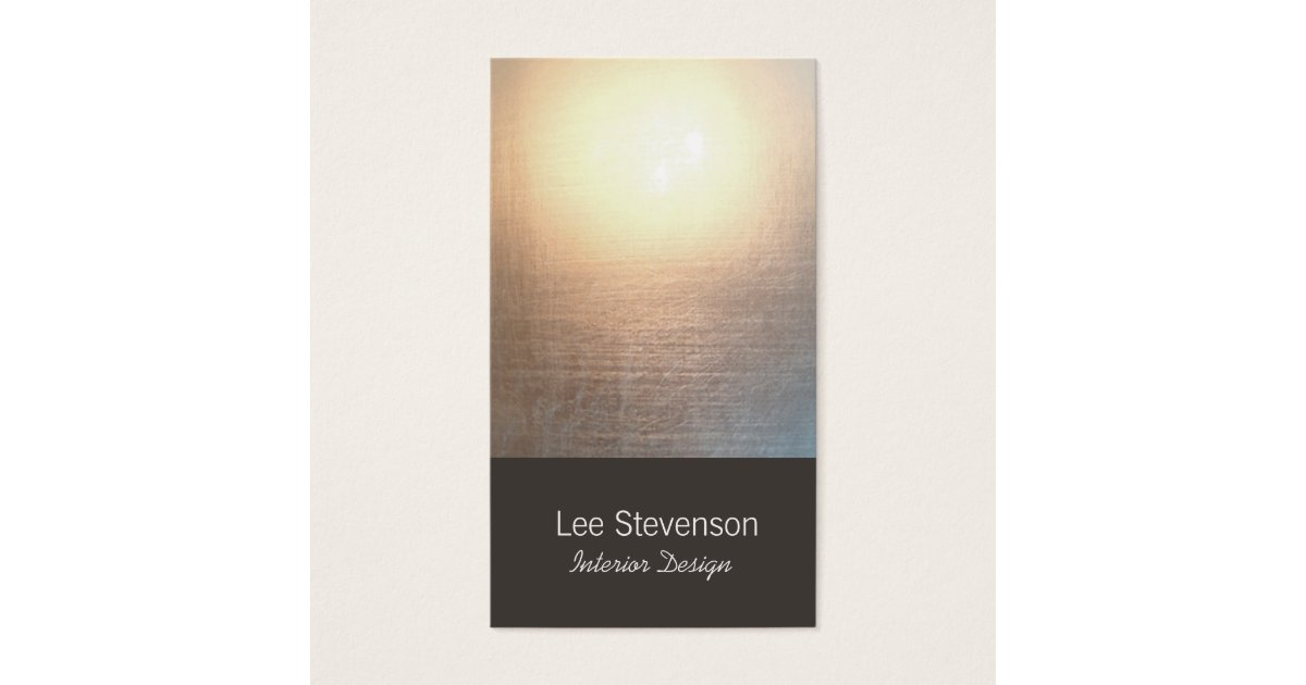 Zen Minimalist Simple New Age Interior Designer Business Card ...