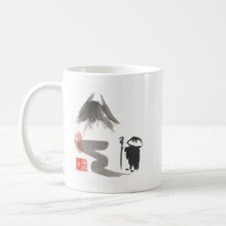 Zen Monk on Journey Classic White Coffee Mug