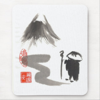 Zen Monk on Journey Mouse Pad