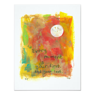 Zen Moon modern art painting - live in the moment Card