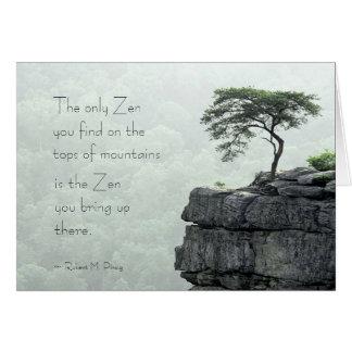 Zen Mountain Card
