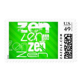 Zen; Neon Green Stripes Stamp