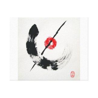 Zen no seishin stretched canvas print