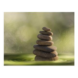 Zen of stones in more water postcard