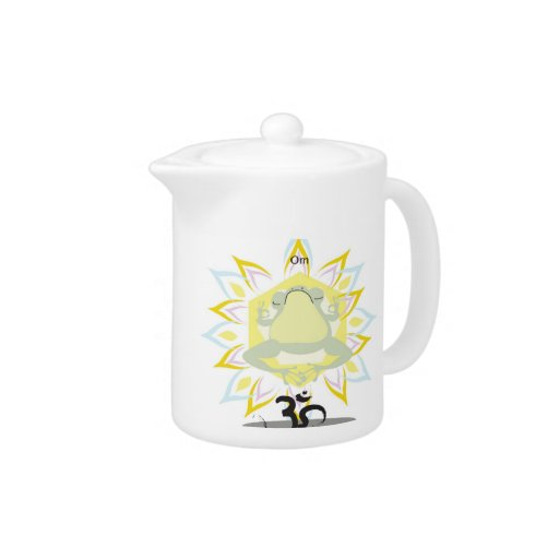 Zen OM Frog~teapot