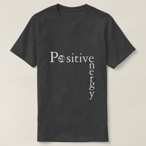 Zen Om positive energy minimalist dark yoga shirt