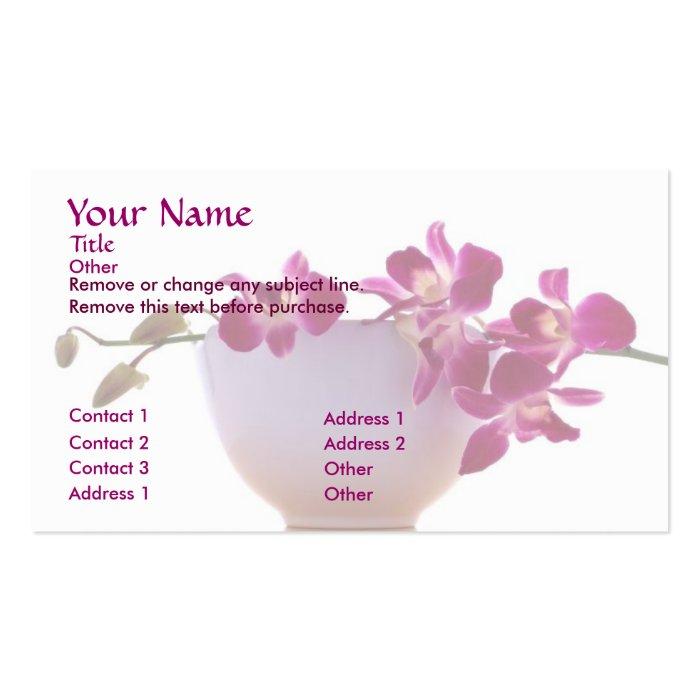 Zen orchid business card zazzle for Zen business cards