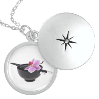 Zen Orchid Sterling Silver Necklace