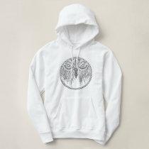 Zen Owl Doodle, original design hoodie