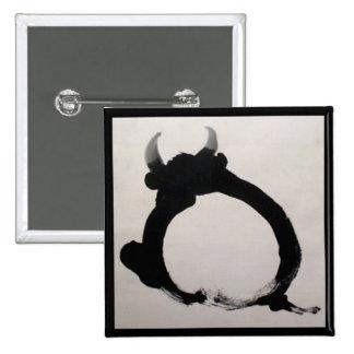 Zen painting Bull Pinback Button