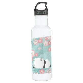 Zen Panda Tall Bottle (Plum Blossoms) 24oz Water Bottle