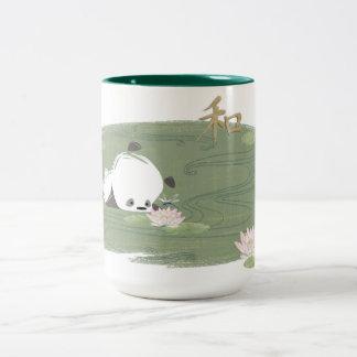 Zen Panda Water Lily Mug