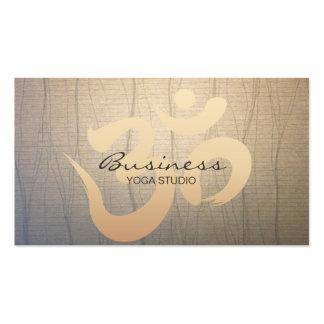 Zen Paper Om Symbol Yoga Business Cards