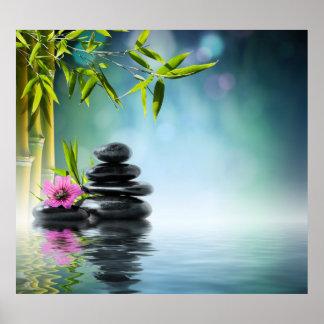 Zen paradise garden,serenity,peaceful,yoga poster