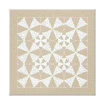 Zen-patterns - quilting alpha canvas print