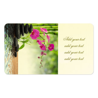 zen,peace,pink orchid,beautiful,spa,healing,yoga,c Double-Sided standard business cards (Pack of 100)