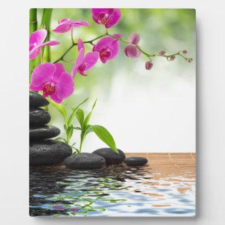 zen,peace,pink orchid,beautiful,spa,healing,yoga, plaque